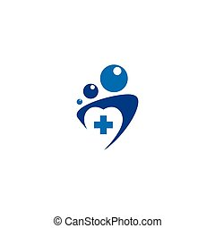 Family medicine practice abstract sign. Vector Illustration...