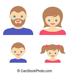 Family member vector icons