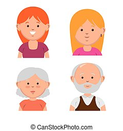 family members avatars characters