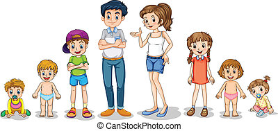 Family members - Illustration of a family members