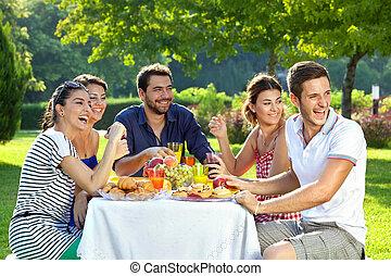 Family members laughing