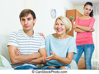 Family members trying to make it out with offended man