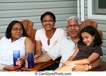 Family - Minority couple at their home