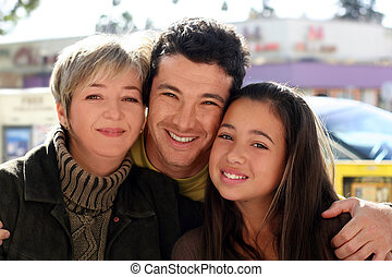 Family - Mother, father and daughter