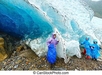 Family near Svartisen glacier (Norway)
