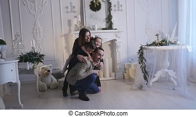 family new year photo shoot flash light