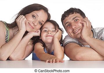 family of a three