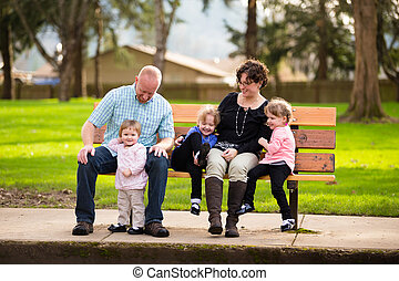 Family of Five People - Lifestyle photo of a family of five...