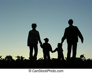 family of four sundown