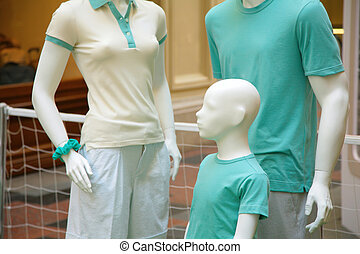family of mannequins