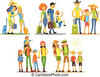 Family Of Three Travelers