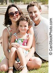 Family of three vacation