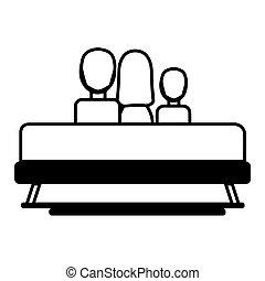Family on a sofa icon