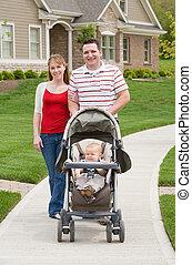 Family on a Walk - Happy Family Taking a Walk