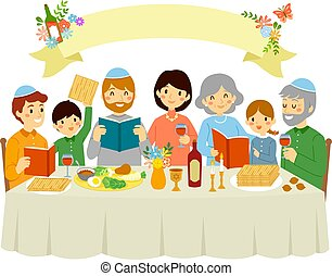 Family on Passover Eve