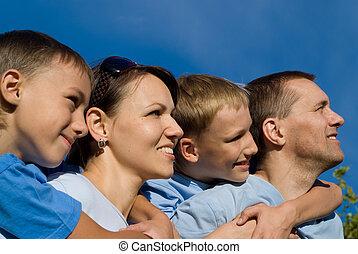 family on sky