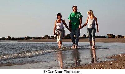 Family on the beach.