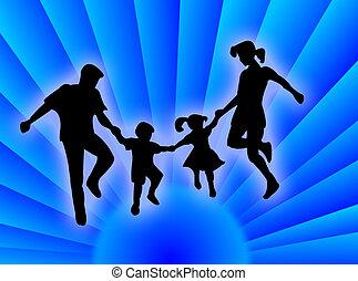 Family on the sun