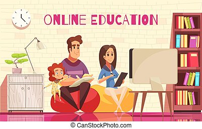 Family Online Courses Illustration