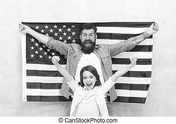 family., oportunidad, independencia, relax., día, americanos...