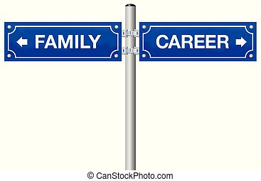Family Or Career Street Sign