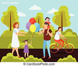 Family Outdoor Orthogonal Composition