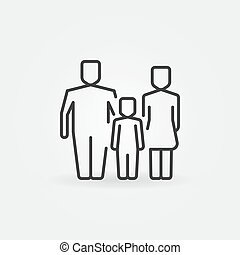 Family outline icon