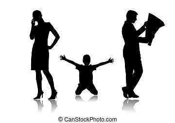 Family - Parents which do not communicate with the child