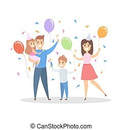 Family party illustration