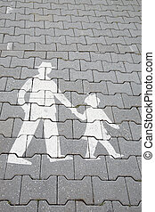 Family Pedestrian Sign