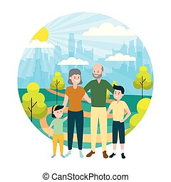family people outdoors
