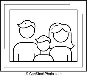 Clip Artby RaStudio0 0 Family Photo Frame Vector Line Icon