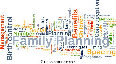 Family planning background concept