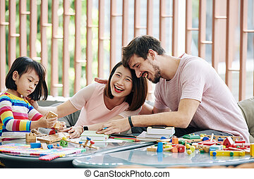Family playing together