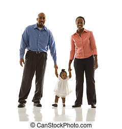 Family portrait. - African American man and woman standing...