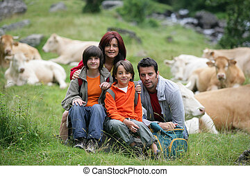 Family portrait in the countryside