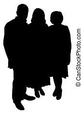 family portrait silhouette