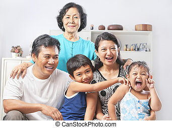 Family portrait with grandmother