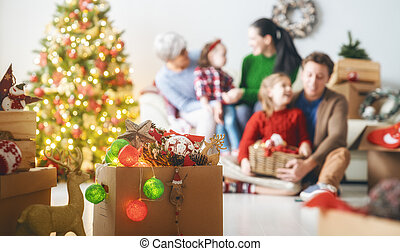 family preparing for Christmas - Merry Christmas and Happy ...