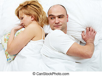 Family problem - Photo of dissatisfied husband looking his ...