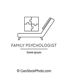 Family psychologist line icon