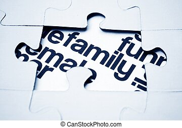 Family puzzle concept