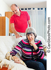 Mature woman having problems with  husband