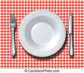 Family Restaurant Place Setting - Place setting for a family...