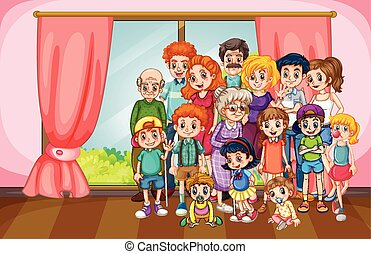 Family reunion illustrations and clipart 480 family reunion royalty family reunion gathering in the house thecheapjerseys Image collections