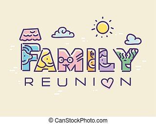 Family Reunion Illustration