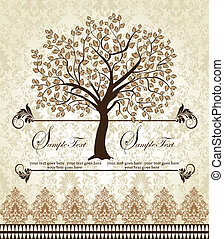 Family Reunion Invitation Card - floral invitation card with...