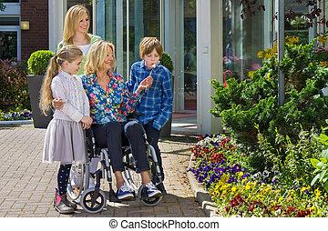 Family reunion outdoors