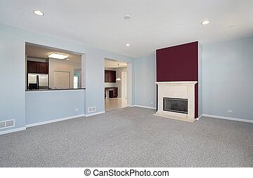 Family room in new construction home