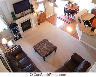 Family Room Overlook - View of a well furnished family room ...
